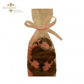 Chocolade Speentjes en Voetjes Roze (190 gram)