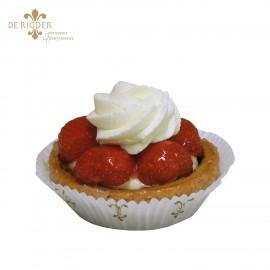 Aardbeien schelpje gebak
