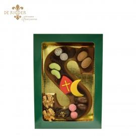 Luxe chocolade letter S melk klein