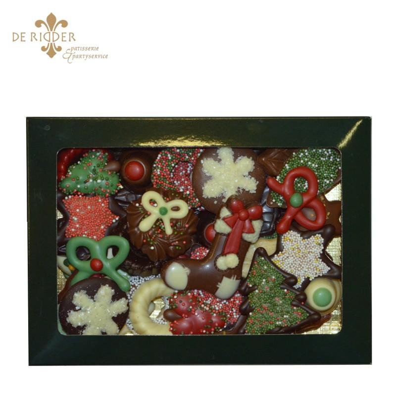 Luxe chocolade vensterdoos groot (450 gram)
