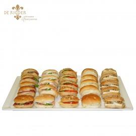 Gesorteerde broodjes op schaal