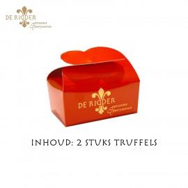 Mini Truffel Doosje Rood
