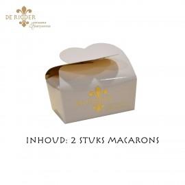 Mini Macaron Doosje Wit