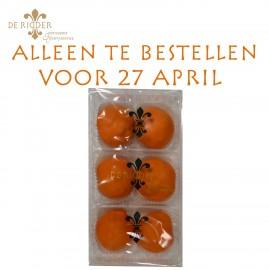 Oranje Chocolade Slagroomsoesjes (6 stuks)